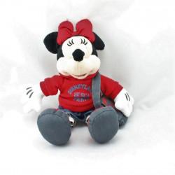 Peluche Minnie pull rouge jupe jeans sac DISNEYLAND