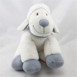 Doudou musical mouton blanc bleu NICOTOY