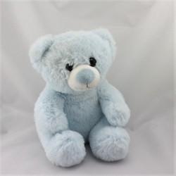 Doudou peluche ours bleu GIPSY
