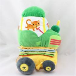 Doudou livre Mon tracteur vert jaune YOYO EDITIONS