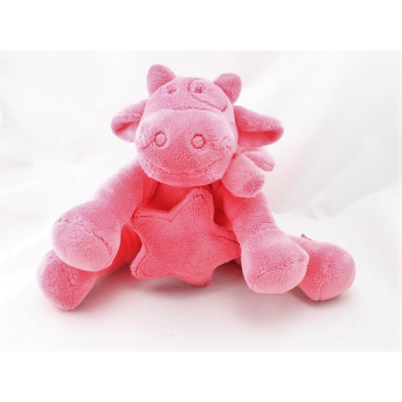 Doudou musical vache rose Mix & Match NOUKIE'S
