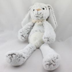 Doudou lapin blanc beige tout doux HOSSEGOR