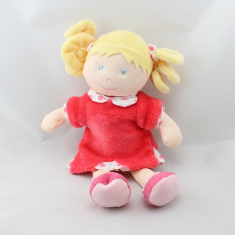 Doudou et compagnie poupée fille rose pois Le manége des poupées