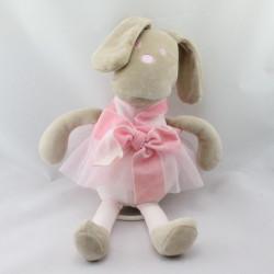 Doudou musical lapin beige rose jupe tutu Corolle