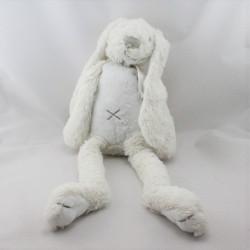 Doudou lapin blanc gris HAPPY HORSE