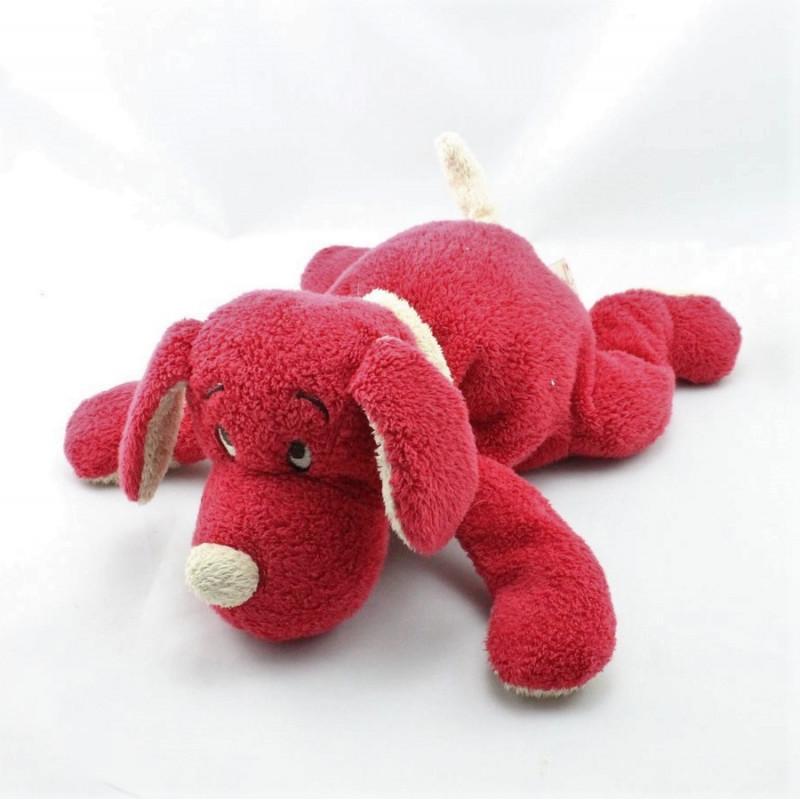 Doudou chien rouge beige DIMPEL