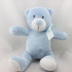 Doudou ours bleu SMILE BABY