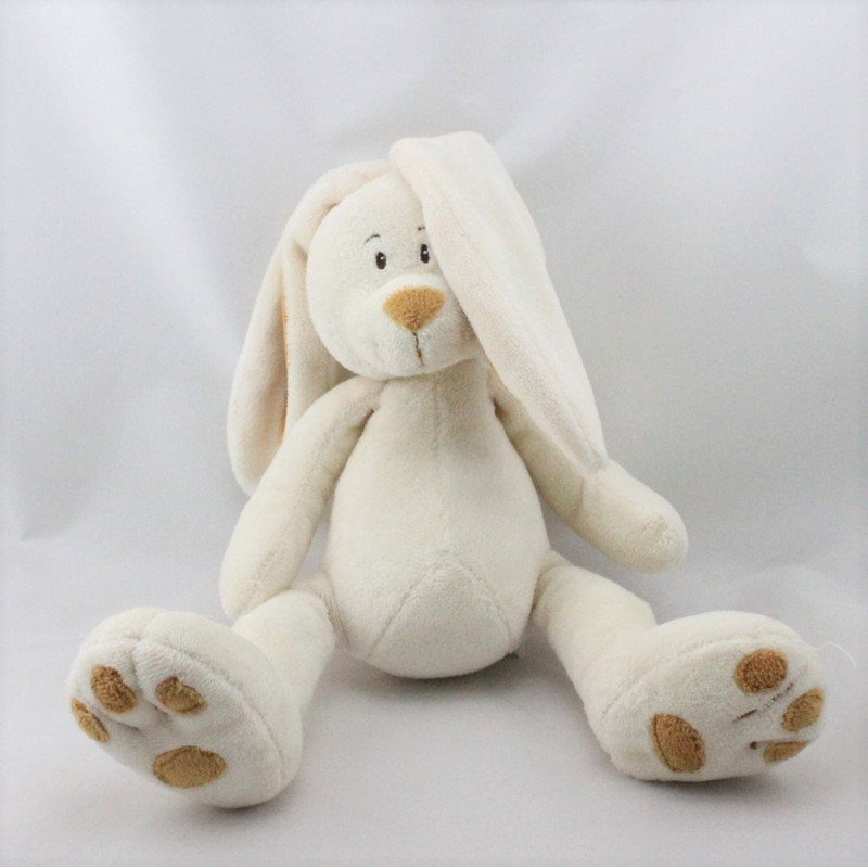 Doudou lapin blanc beige ALOHA GEMO