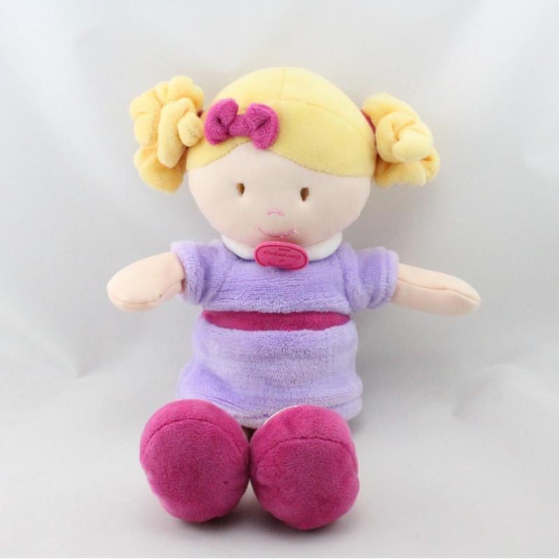 Doudou et compagnie poupée mauve rose LES DEMOISELLES ORCHIDEE