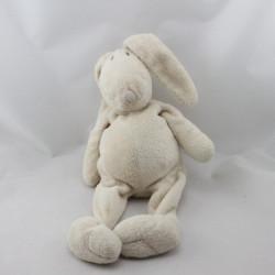 Doudou lapin beige nez marron DIMPEL