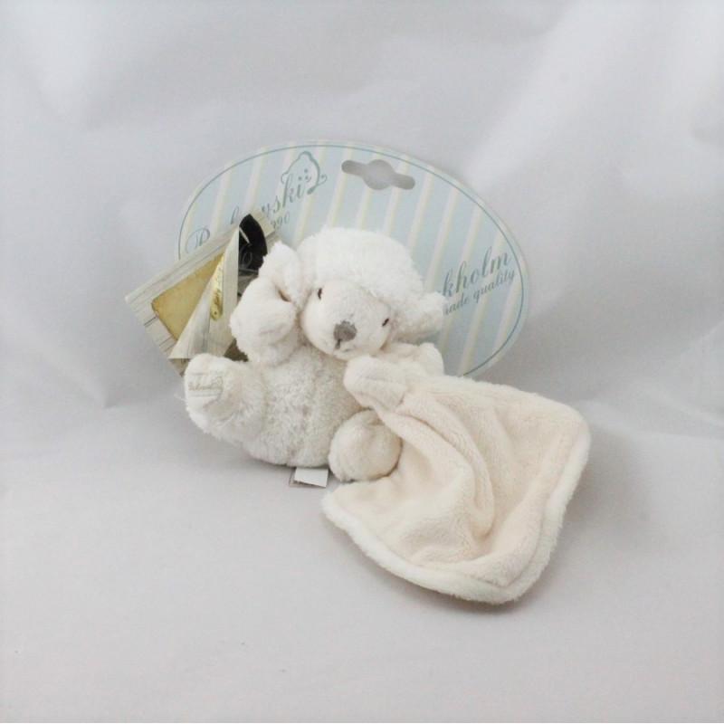 Doudou mouton blanc mouchoir BUKOWSKI