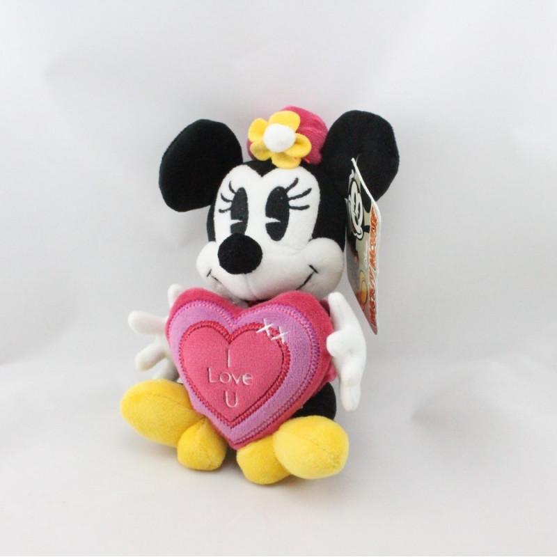Peluche Minnie coeur I love u DISNEY NICOTOY