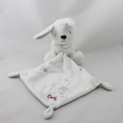 Doudou lapin blanc gris étoiles mouchoir KIABI SIMBA TOYS