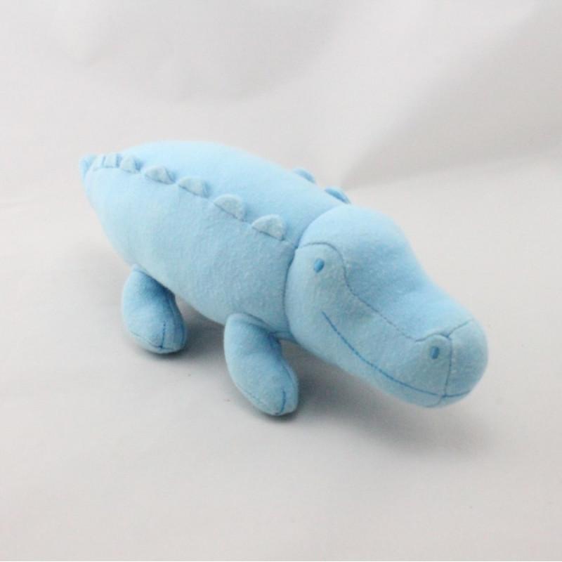 Doudou crocodile bleu PETIT BATEAU