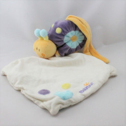 Doudou escargot violet jaune bleu mouchoir BABYSUN