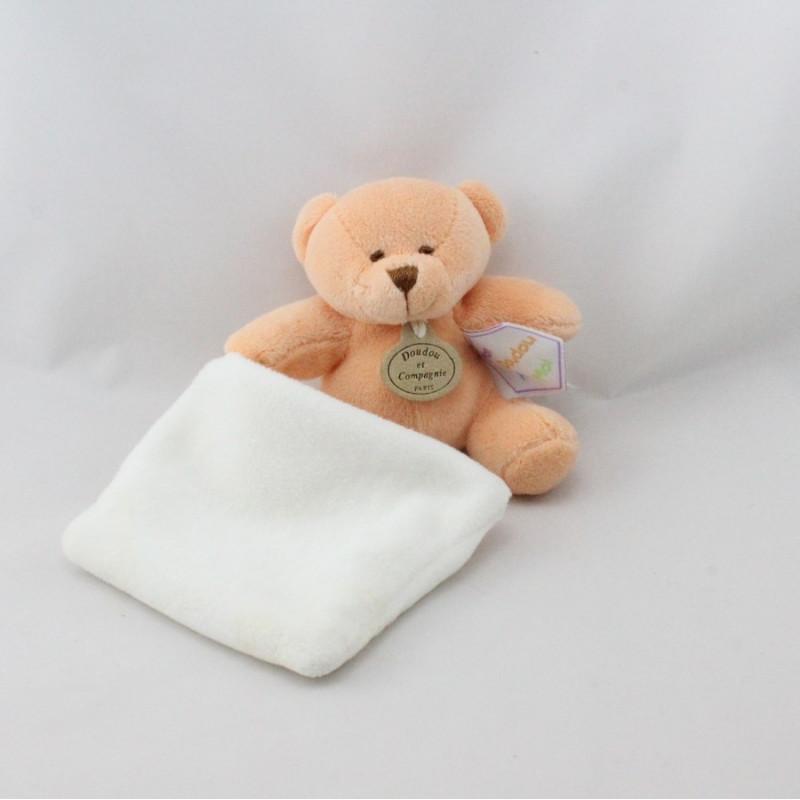 Doudou et compagnie ours orange mouchoir Mon doudou à moi