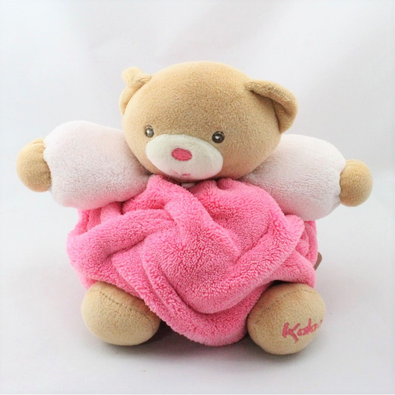 Doudou ours plume beige rose KALOO