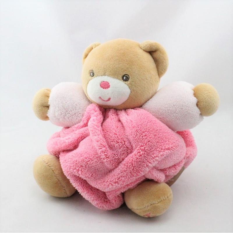 Doudou ours plume beige rose KALOO
