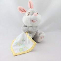 Doudou lapin gris Pan-pan Panpan avec mouchoir Thumper DISNEY