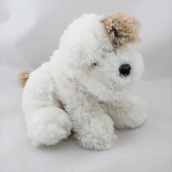 Doudou chien blanc marron HISTOIRE D'OURS