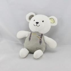 Doudou ours blanc gris Petit Panoplie TOUT SIMPLEMENT CASINO