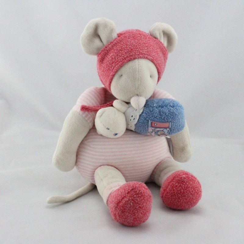 Doudou musical Souris Lila Patachon petit ours MOULIN ROTY