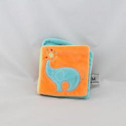 Livre Doudou éléphant bleu orange vert U TOUT PETITS
