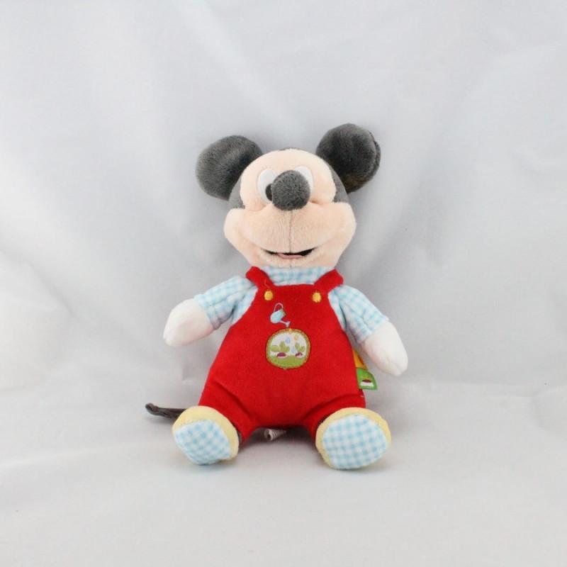 Doudou Mickey rouge bleu arrosoir radis DISNEY