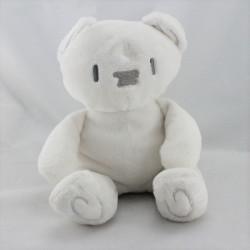 Doudou ours blanc gris BEBE CONFORT