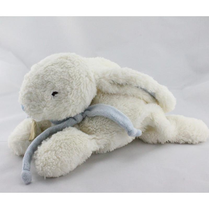 Doudou et compagnie lapin blanc bleu Bonbon