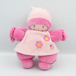 Doudou lutin poupée rose fleurs BESTEVER 2011