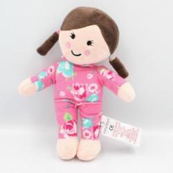Doudou poupée rose fleurs EARLY DAYS