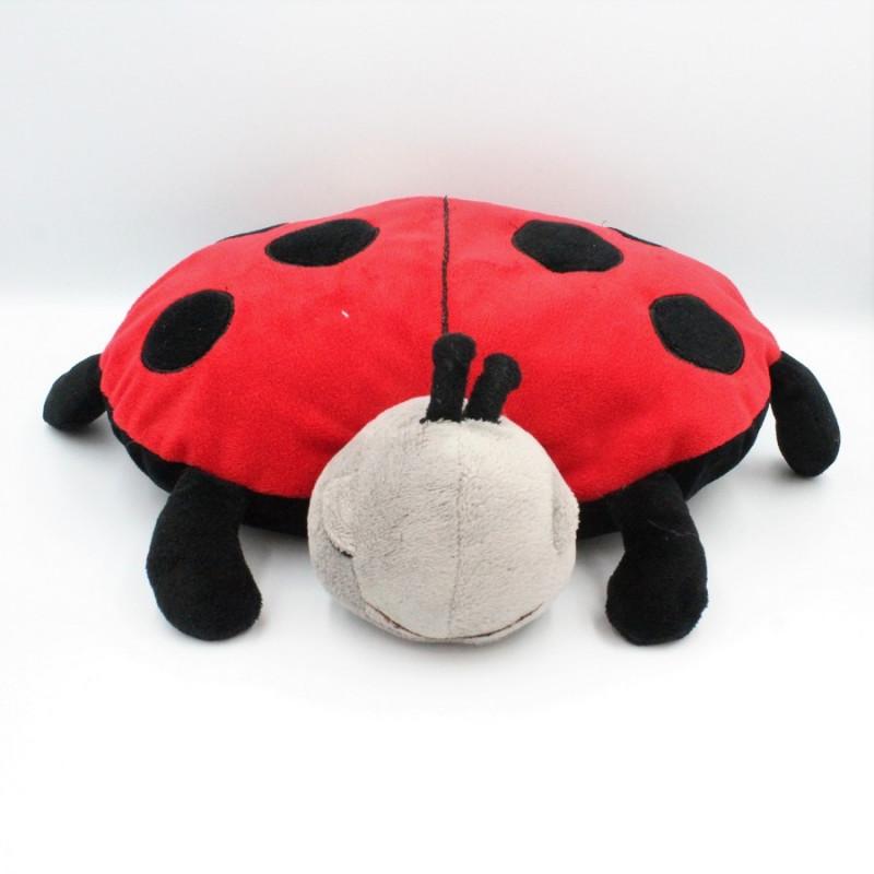 Doudou coussin coccinelle rouge noir range pyjama CLOUD