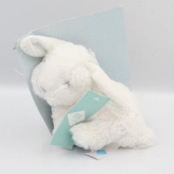 Doudou lapin blanc bleu...