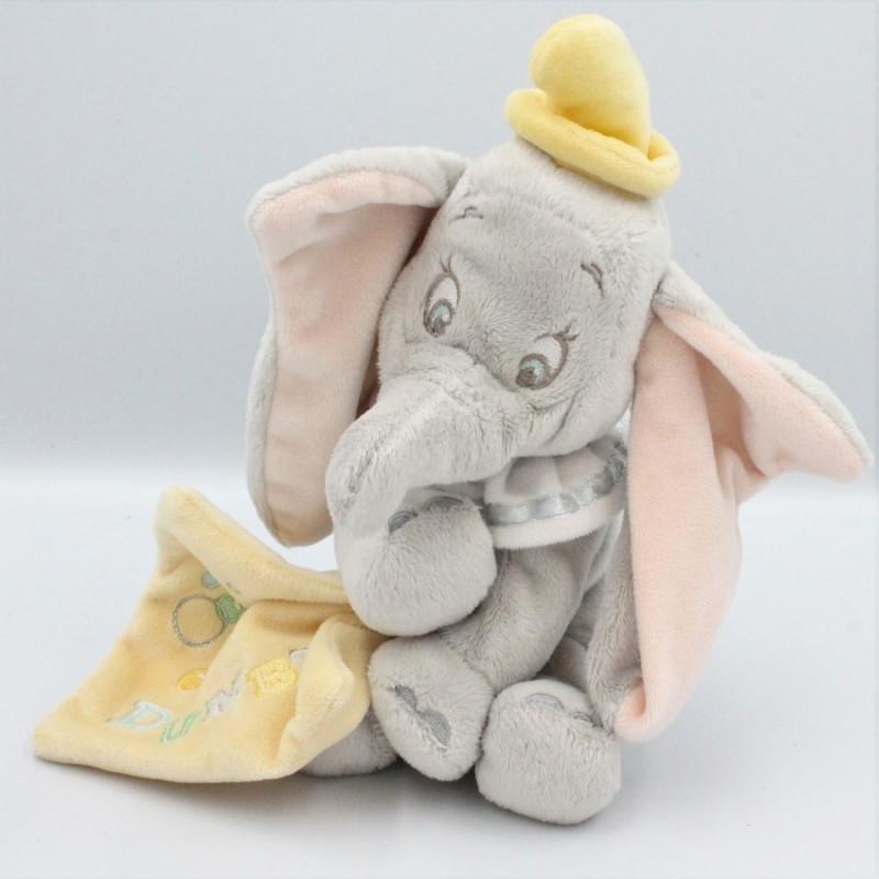 Doudou Dumbo l'éléphant mouchoir jaune DISNEY STORE
