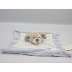 Doudou plat chien beige bleu blanc étoiles KIMBALOO