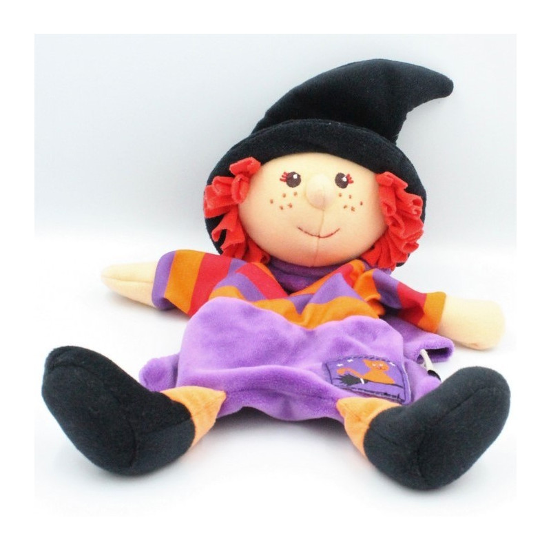 Doudou plat poupée sorcière violet orange rouge STERNTALER