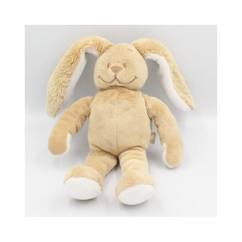Doudou lapin beige Gaspard NOUKIE'S