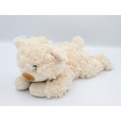 Doudou peluche micro ondable ours beige HABIBI
