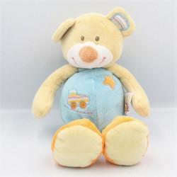 Doudou ours beige bleu...