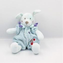 Doudou chien bleu violet...