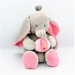Doudou éléphant gris rose...