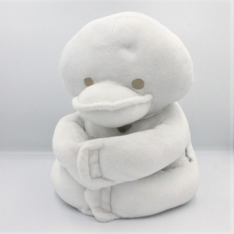 Doudou peluche canard blanc ARMANI BABY