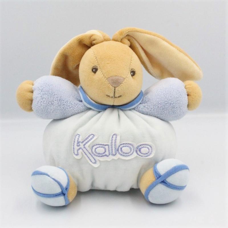 Doudou patapouf lapin bleu blue KALOO