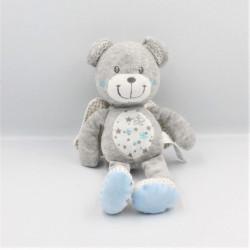 Doudou ours gris blanc bleu...