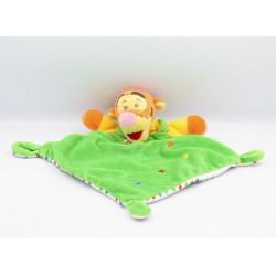 Doudou plat tigrou vert jaune orange ballon cubes DISNEY NICOTOY