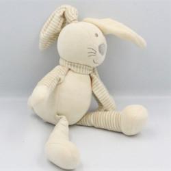 Doudou lapin écru jaune...