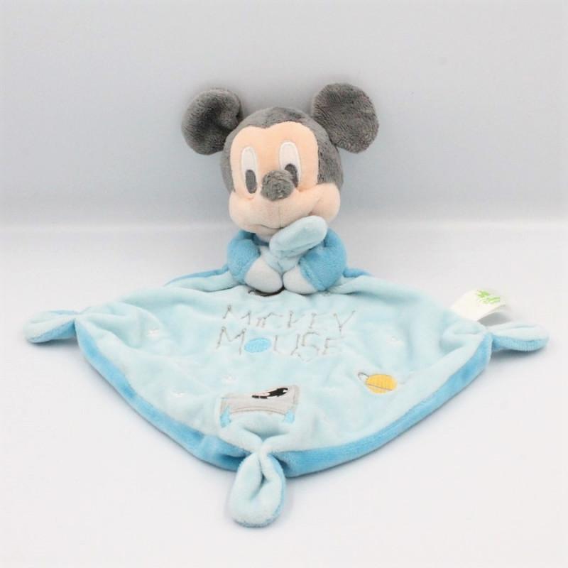 Doudou plat Mickey bleu fusée DISNEY BABY