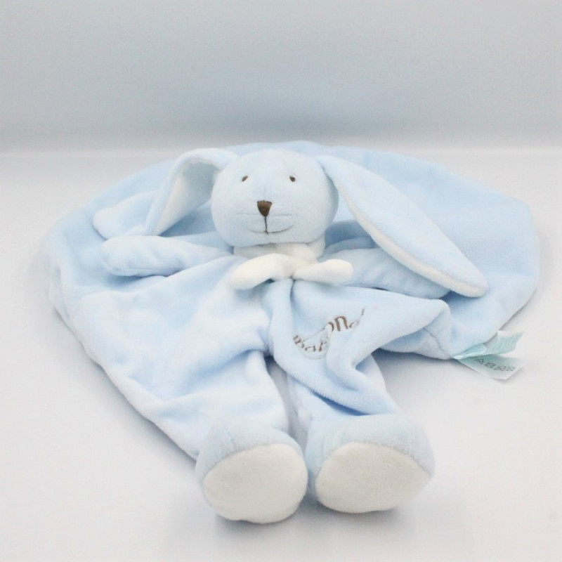 Doudou plat rond lapin bleu Collection Layette BABY NAT