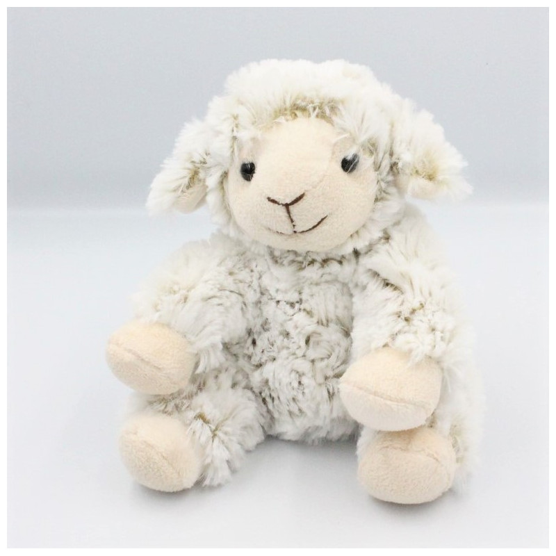 Doudou mouton blanc beige NATURE COLLECTION